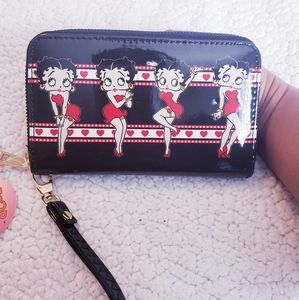 Black, Red and White Betty Boop Wallet. NWT.
